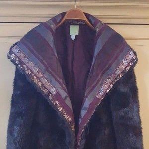 Citrene Faux Fur Embellished Jacket...FIRM